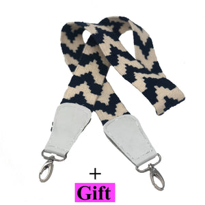 Handmade bag strap Black and white Vintage Kilim (A piece of art) This product coming with Gift