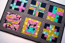 Load image into Gallery viewer, Colorful Quilted Table Topper with Modern Fabric Patchwork