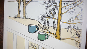 Coffee at the Cabin Art Print