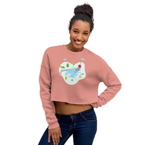 Cherry Bomb Crop Sweatshirt