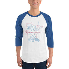 Load image into Gallery viewer, All of Minnesota Too 3/4 Sleeve Raglan Shirt