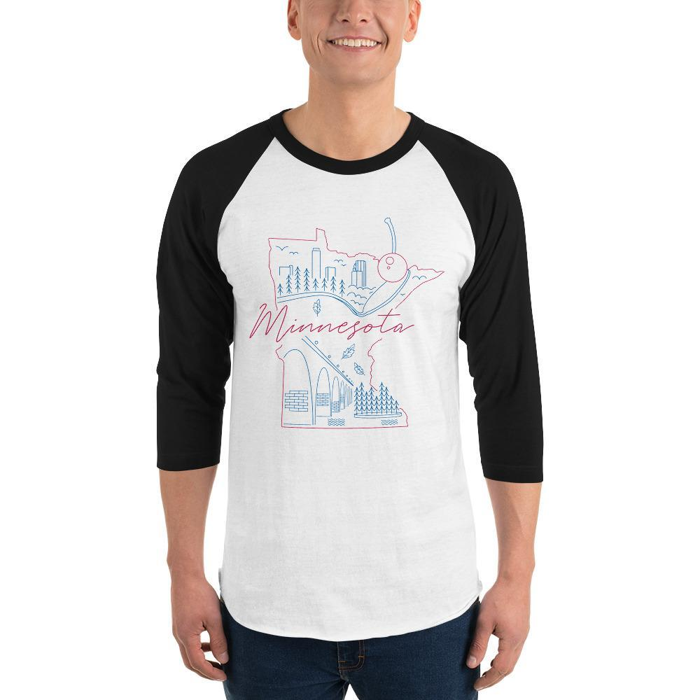All of Minnesota Too 3/4 Sleeve Raglan Shirt