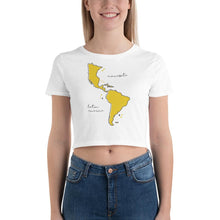 Load image into Gallery viewer, We're All One Women's Crop Tee