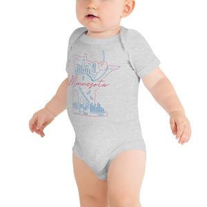All of Minnesota Too Infant Short Sleeve Bodysuit