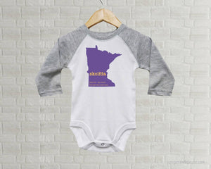 Minnesota Skolfda Baby One Piece