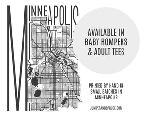 Adult T-Shirt - Map of Minneapolis