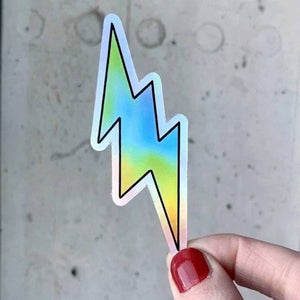 Lightening Bolt Holographic Sticker