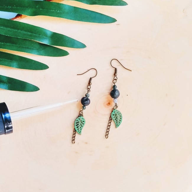 Jasper Stone Aromatherapy - Essential Oil Diffuser Earrings by Spoon and Theory
