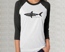Load image into Gallery viewer, Adult Raglan T-Shirt - Baby Shark