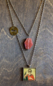 Saint Valentine Layered Necklace - Cherry Quartz