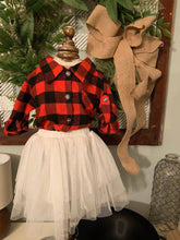 Load image into Gallery viewer, Buffalo Check Shirt and Tutu Set Little Girl Outfit