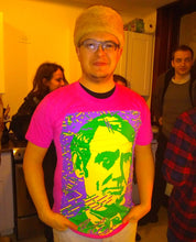 "Load image into Gallery viewer, ""Young Mr. Lincoln"" T-shirt (Pink)"