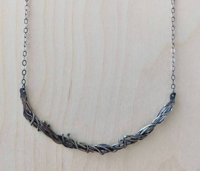 sterling bramble necklace