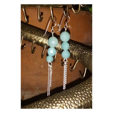 Load image into Gallery viewer, Amazonite Gemstone Beaded Dangle Earring with Sterling Silver