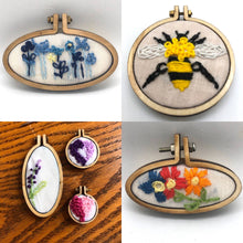Load image into Gallery viewer, Stop & Vote - Mini Embroidery - Choose Necklace or Magnet