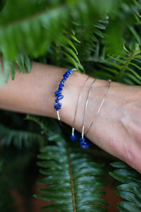 guitar string lapis lazuli bangle bracelet