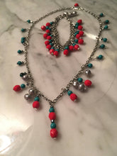 Load image into Gallery viewer, Beaded Necklace and Bracelet Set
