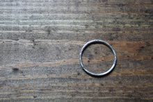 Load image into Gallery viewer, Silver Hammered Stacking Ring