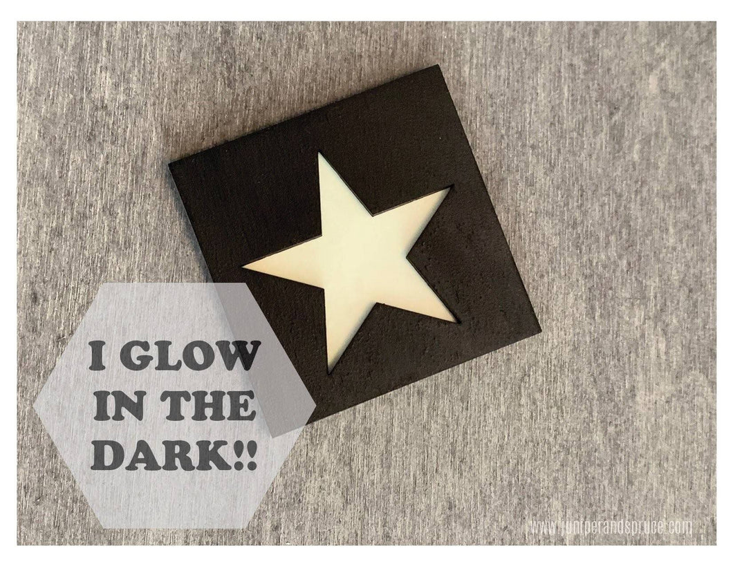 Glow in the Dark Art Magnet - Star