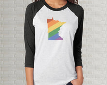 Load image into Gallery viewer, Minnesota Pride Raglan T-Shirt