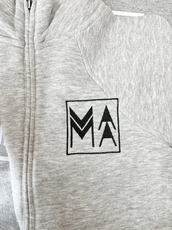 Ash Grey MAMA 1/2 Zip, imperfect