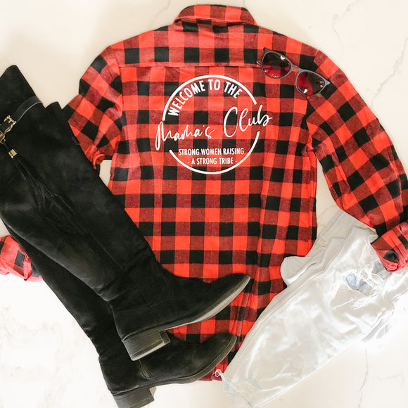 Buffalo Plaid Mama's Club
