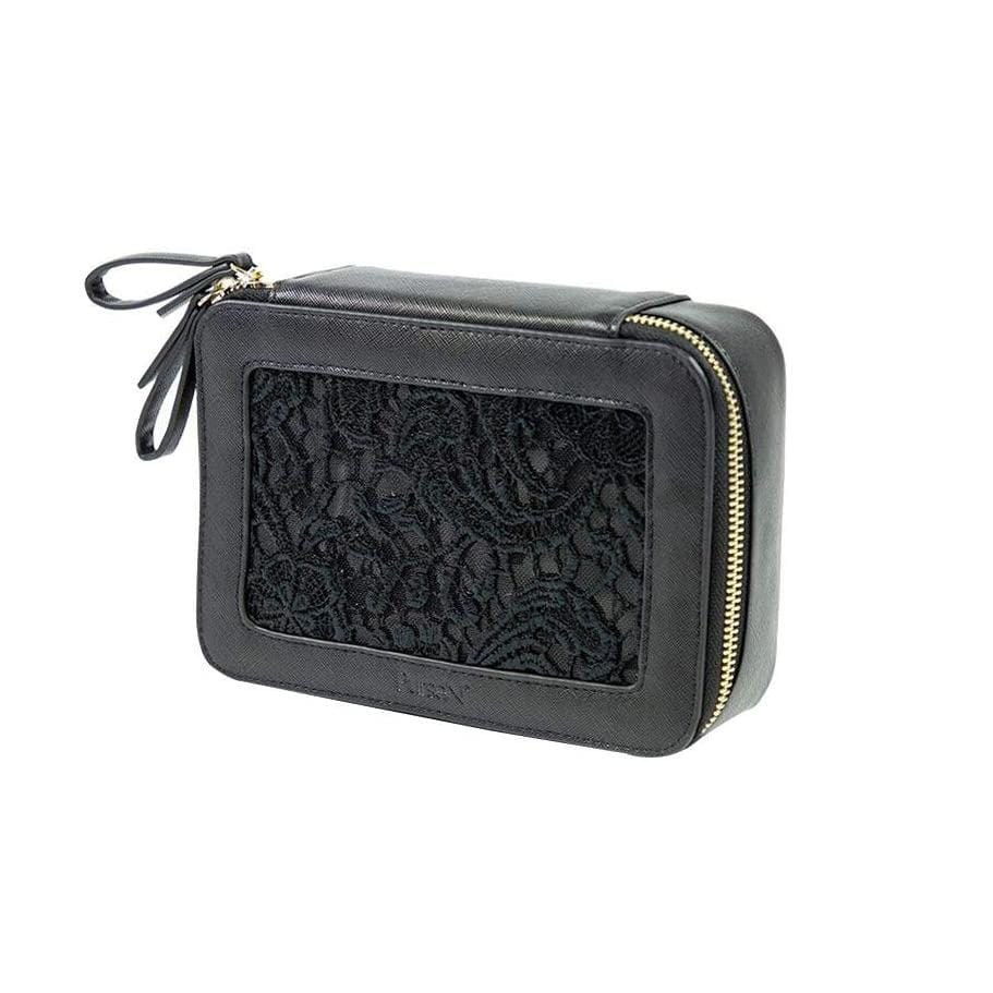 PurseN Beauty Case Black Lace Voyager Jewelry Case