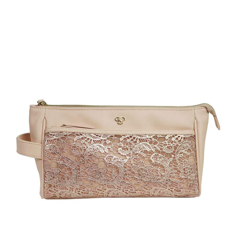 PurseN Beauty Case Blush Lace Zora Travel Case - Blush Lace