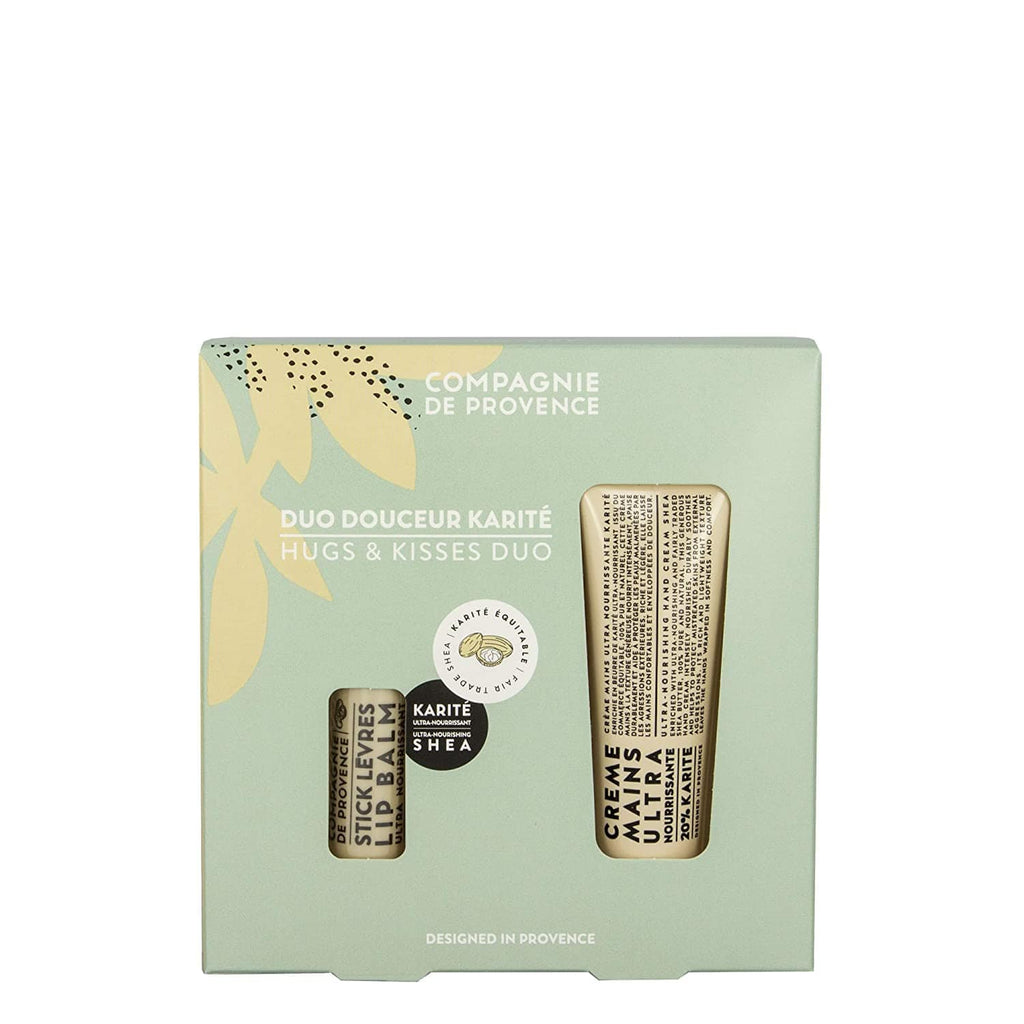 Compagnie De Provence Gift Set Hugs and Kisses Set - Hand Cream and Lip Balm Duo Set