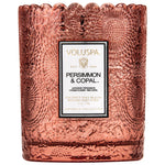 Voluspa Candle Persimmon & Copal Scalloped Edged Candle