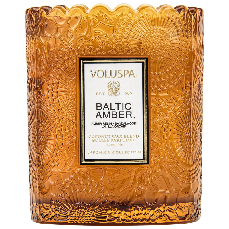 Voluspa Candle Baltic Amber Scalloped Edged Candle