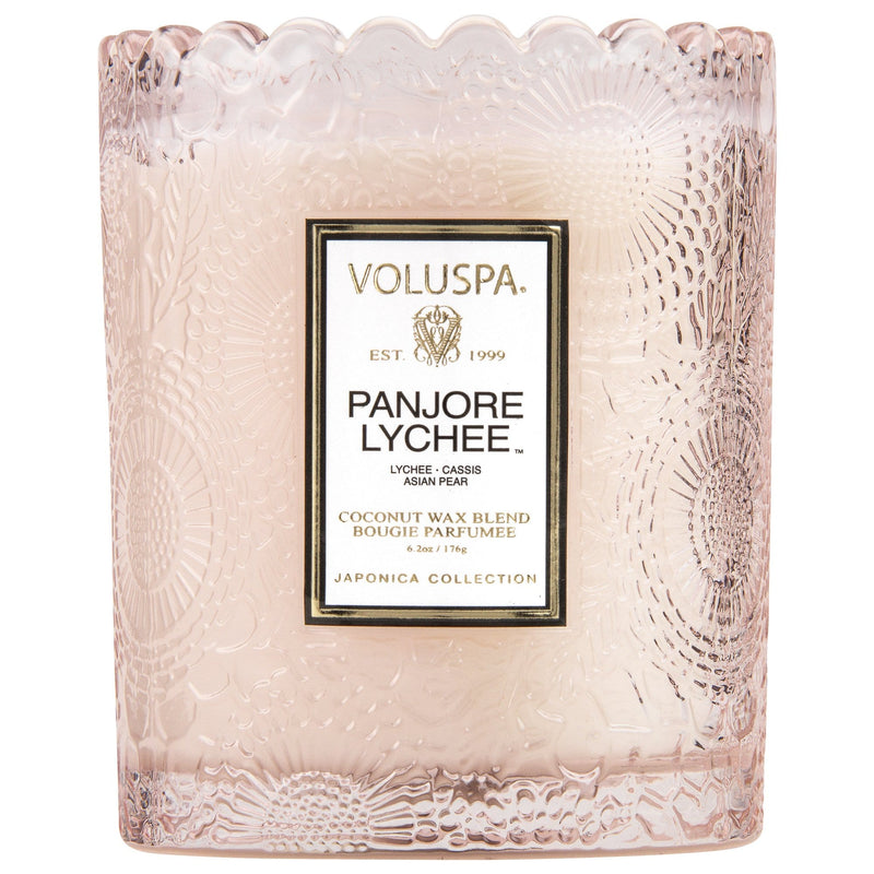 Voluspa Candle Panjore Lychee Scalloped Edged Candle