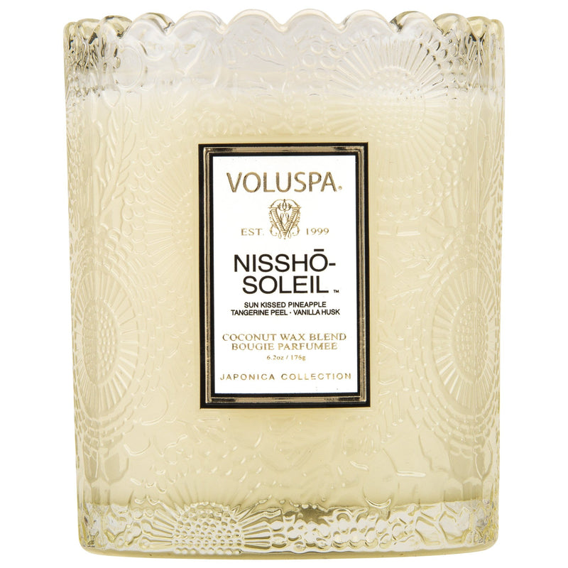 Voluspa Candle Nissho Soleil Scalloped Edged Candle