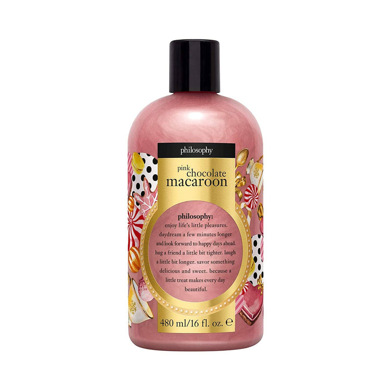 Shampoo, bath & shower gel 16 oz - Pink Chocolate Macaroon