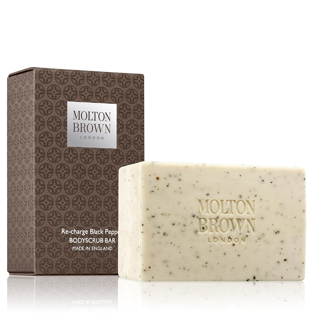 Molton Brown Boxed Soap Re-charge Black Pepper Bodyscrub Bar