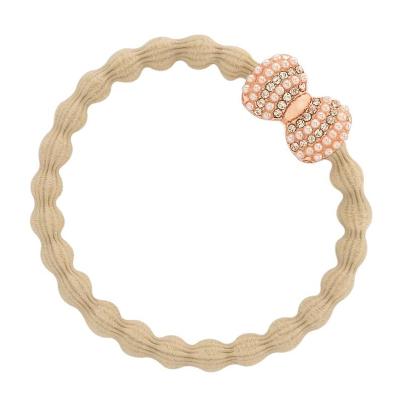 by Eloise LONDON Hair Band Sand with Bow Charm Hairband with Charm