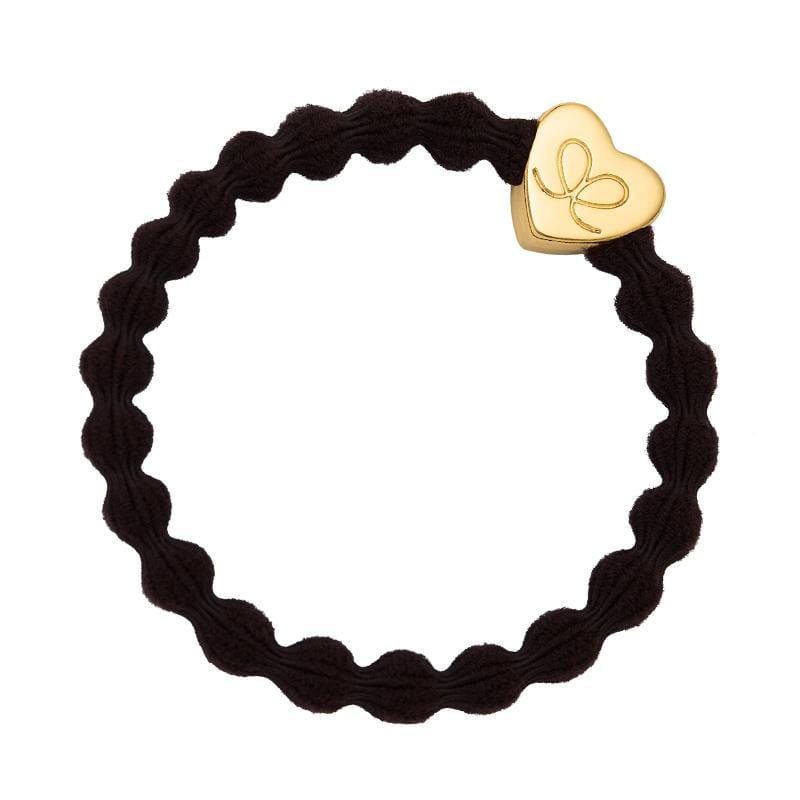 by Eloise LONDON Hair Band Chocolate with Gold Heart Hairband with Charm