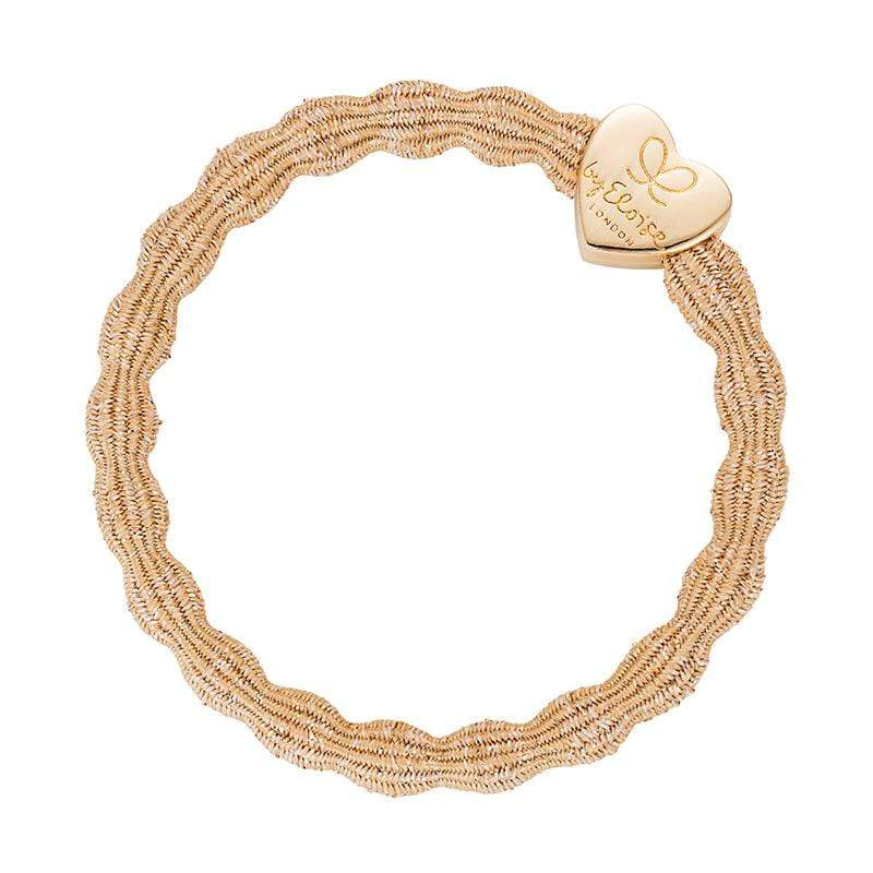by Eloise LONDON Hair Band Metallic Sand with Gold Heart Hairband with Charm
