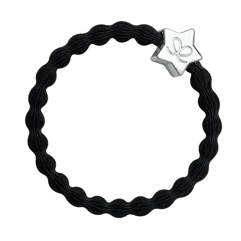 by Eloise LONDON Hair Band Black with Silver Star Hairband with Charm