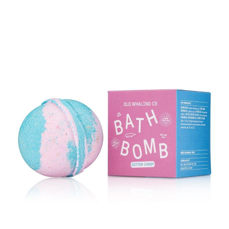 Old Whaling Company Bath Bomb Cotton Candy Boxed Bath Bombs