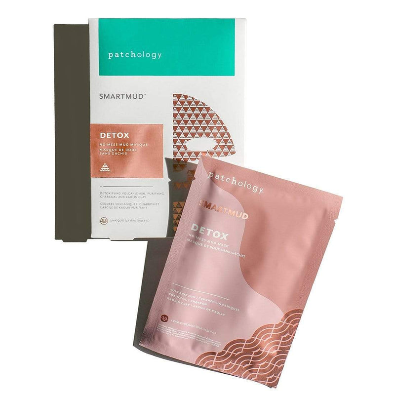 Patchology Mask 4 Pack SmartMud® No Mess Mud Detox Sheet Mask