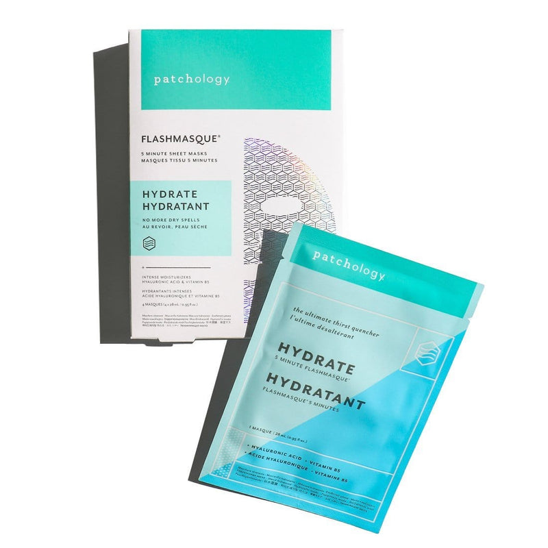 Patchology Mask 4 Pack FlashMasque® Hydrate 5 Minute Sheet Mask