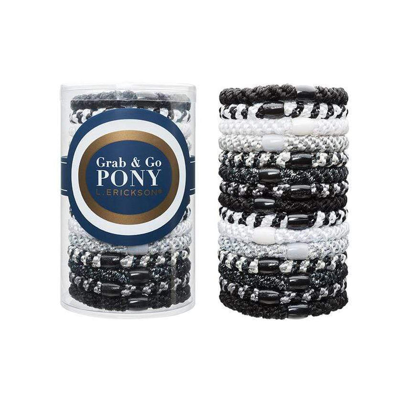 L. Erickson Hair Ties Black Opal Grab & Go Pony Tube