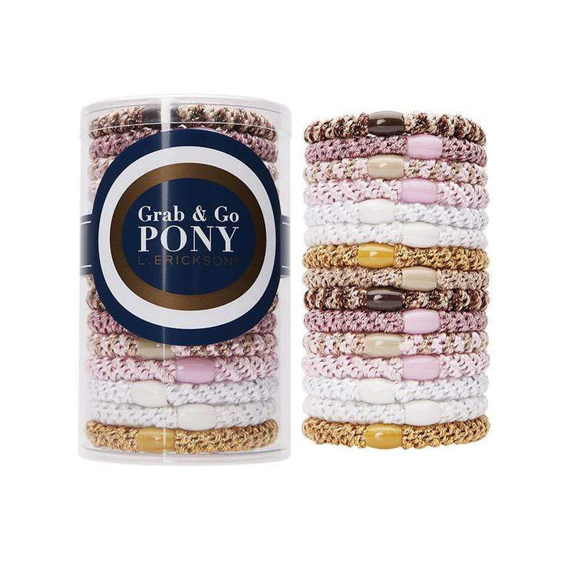 L. Erickson Hair Ties Cotton Candy Grab & Go Pony Tube