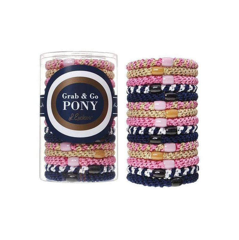 L. Erickson Hair Ties Tennis Court Grab & Go Pony Tube