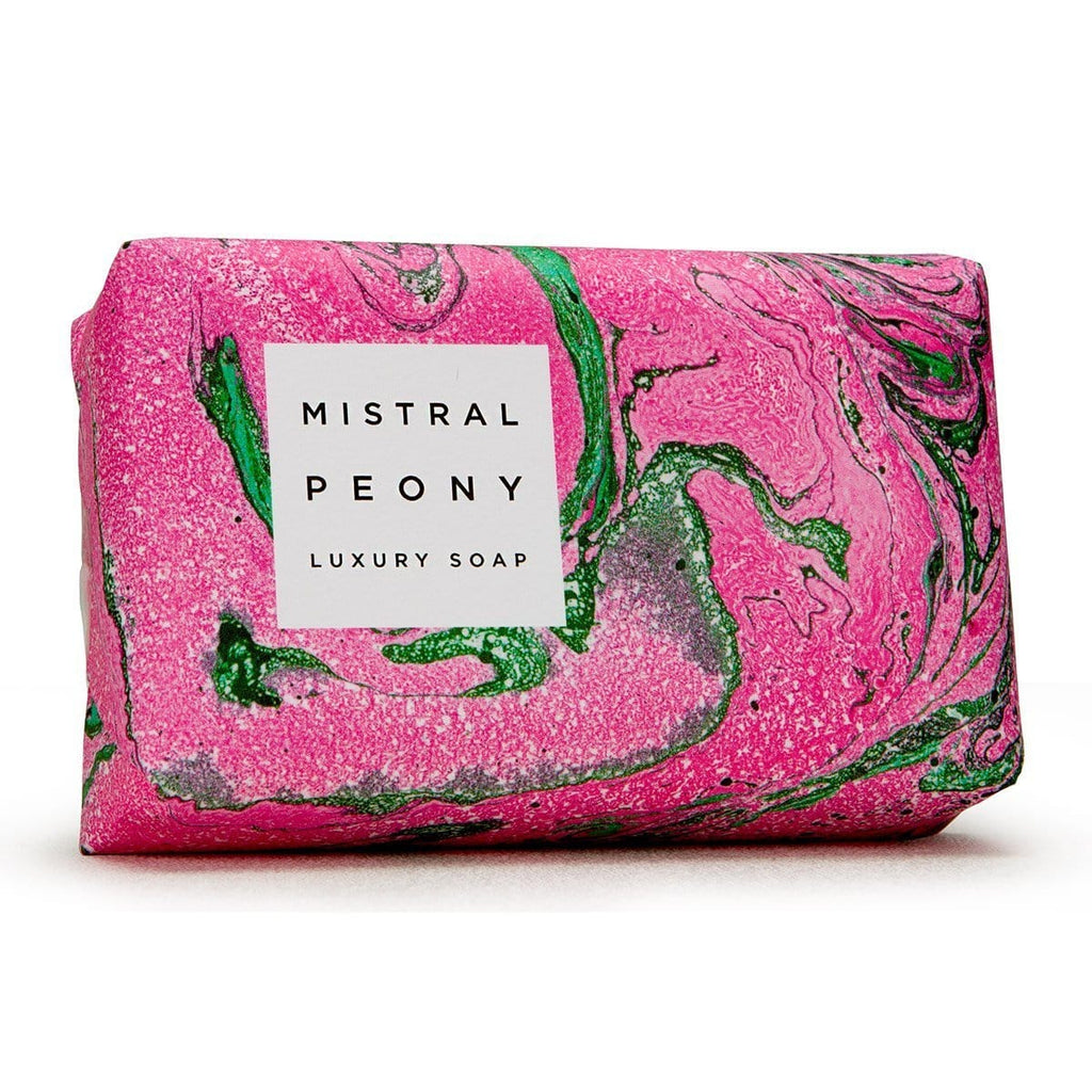 Mistral Soap Bar Peony Marble Bar Soaps