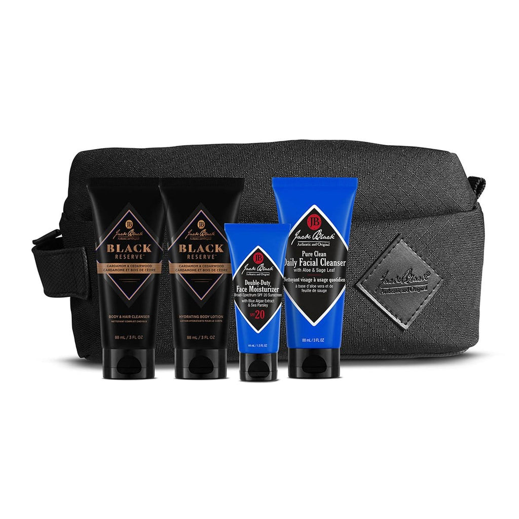 Jack Black Skincare Set Jack's Most Wanted™ with Black Reserve™ Cleanser, Black Reserve™ Lotion, Double-Duty & Pure Clean