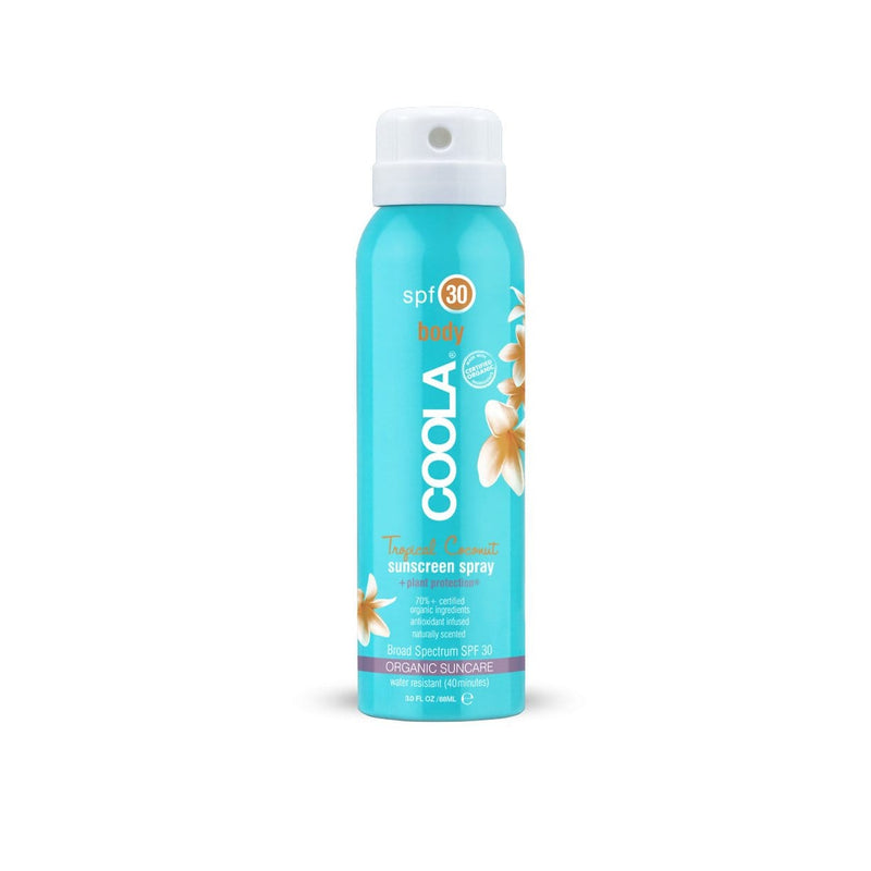 Coola Sunscreen 30 Travel Size Tropical Coconut Organic Sunscreen Spray