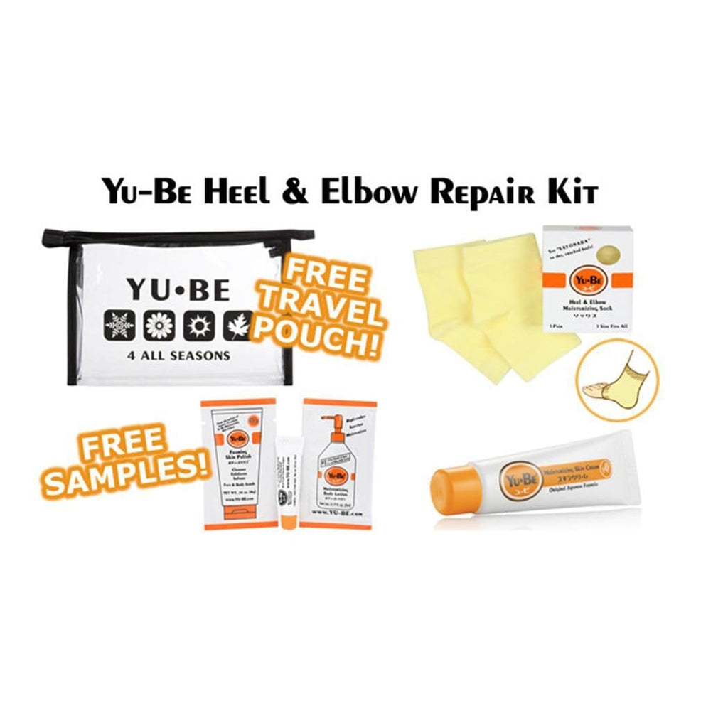 Yu-Be Socks Heel & Elbow Repair Kit (1pr socks+cream tube)