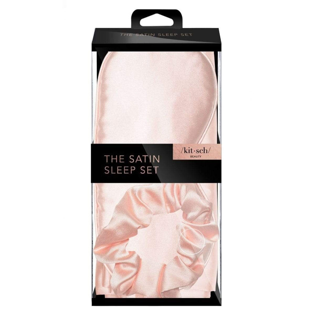 Kitsch Pillowcase Satin Sleep set - Blush
